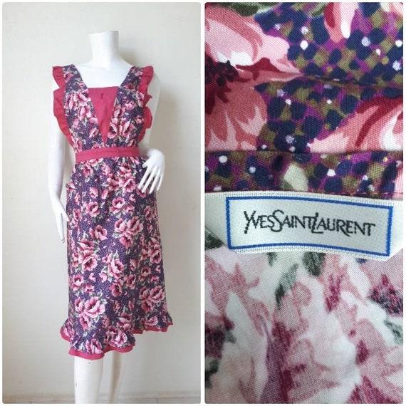 70s Vintage YSL floral Apron