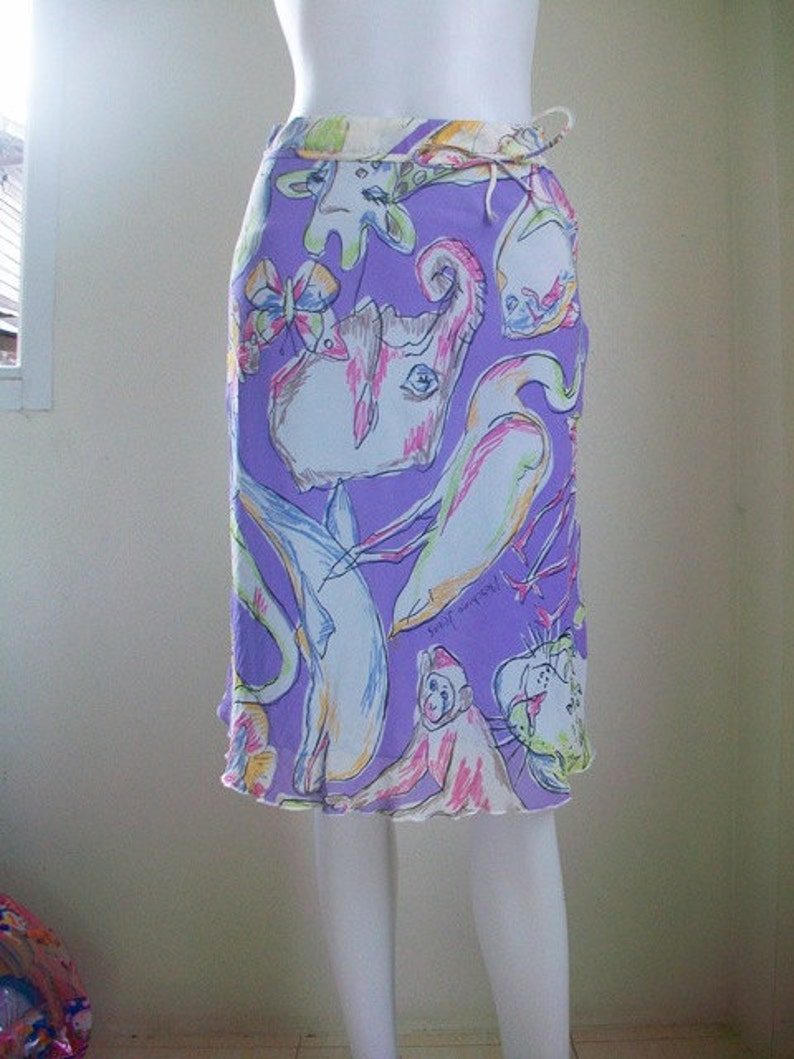 Moschino Jeans Donna Print skirt Size USA 4.