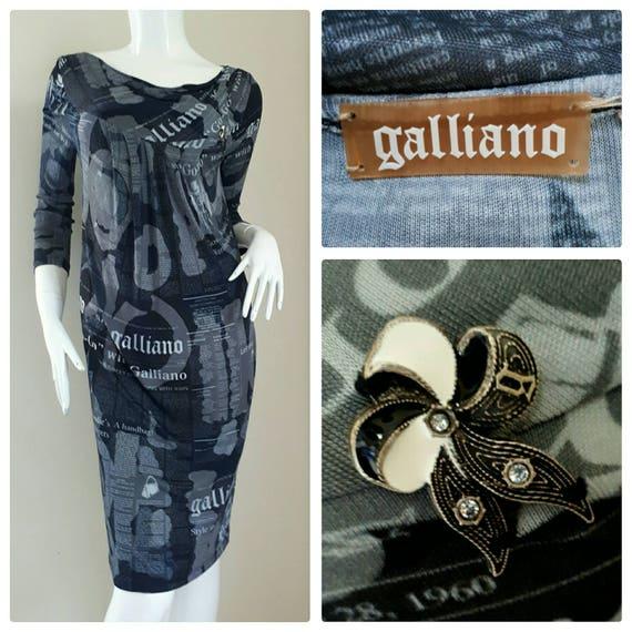 Sale!! Iconic John Galliano Newspaper Print Dress