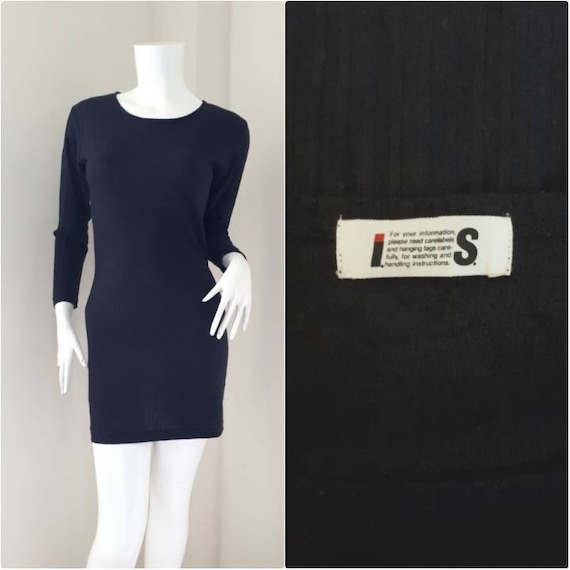 1990s Vintage ISSEY MIYAKE Tshirt dress / Body Con