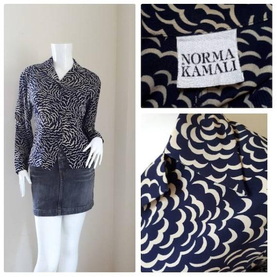 Norma Kamali Vintage silk shirt 1980's/ Women shir