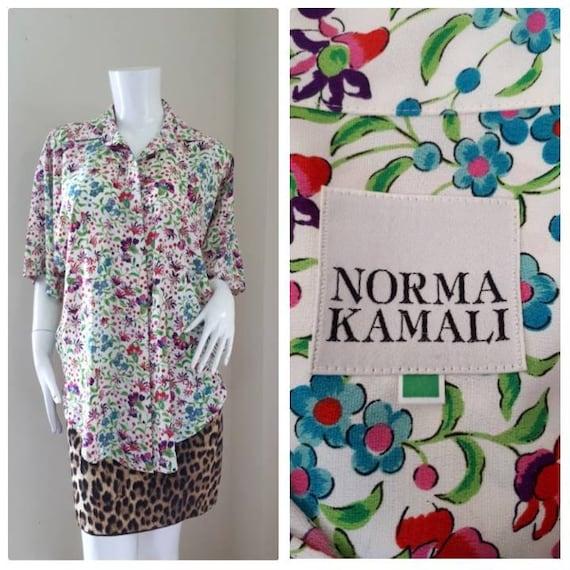Norma Kamali Vintage silk shirt 1980's/ oversized