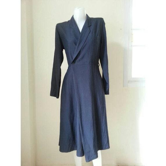 Sale!! Vintage 1970s COMME des GARCONS tricot Navy