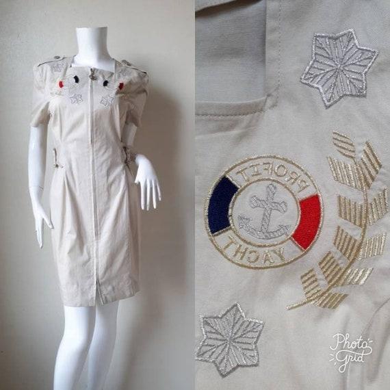 Vintage Cotton Shirt Dress / Small -Medium