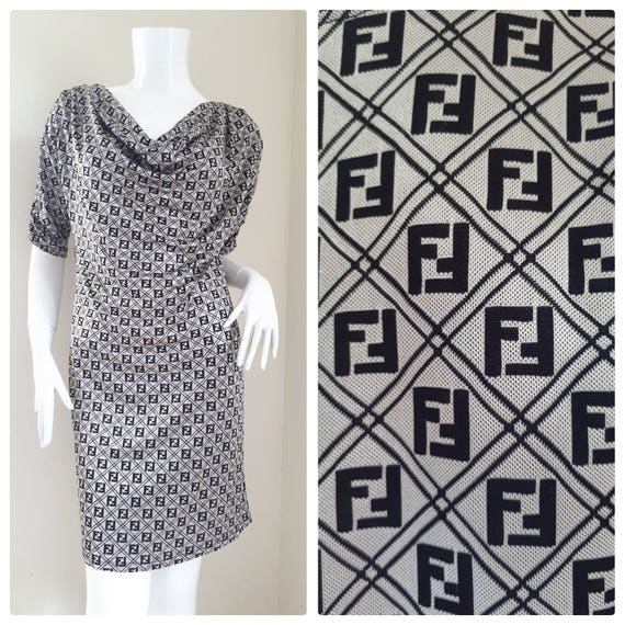 73d8ee93ab5c Sale Vintage Fendi Roma Zucca Monogram Dress Size will fit
