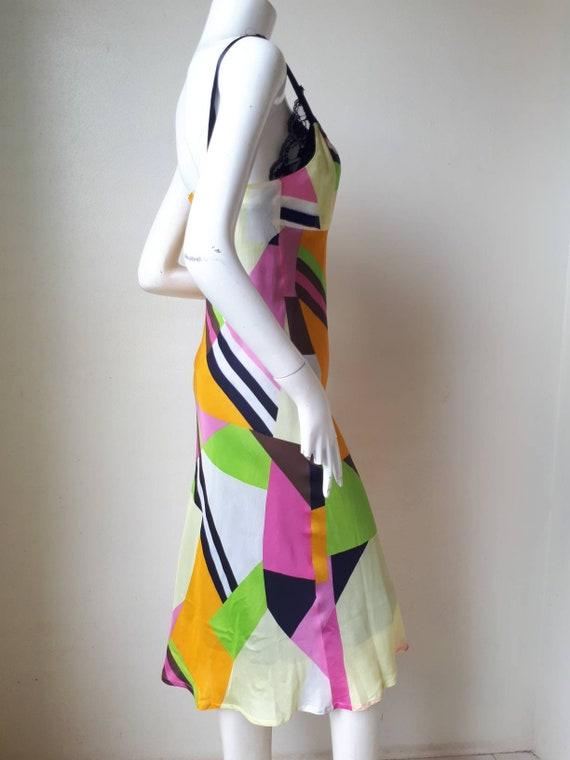 Vintage tricot COMME des GARCONS Silk dress Size M - image 7