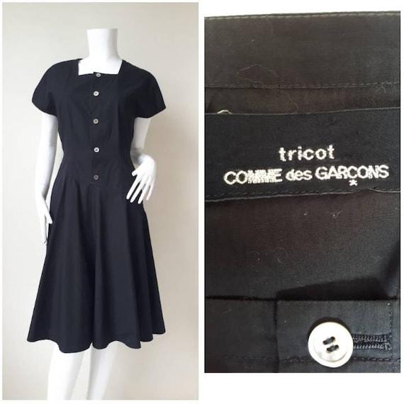 Vintage 1992s COMME des GARCONS tricot black Asymm