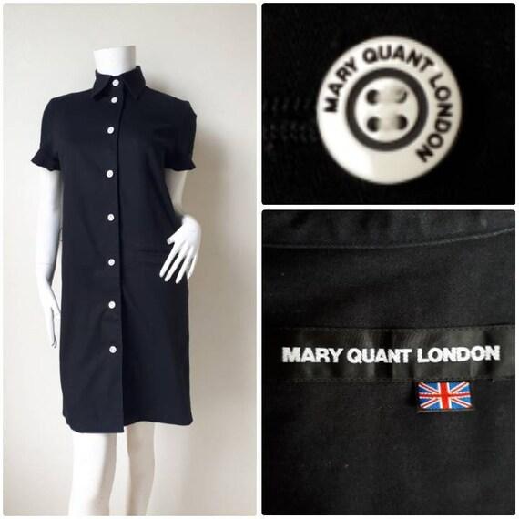 Mary Quant Stripe Cotton Striped Dress Shirt Size
