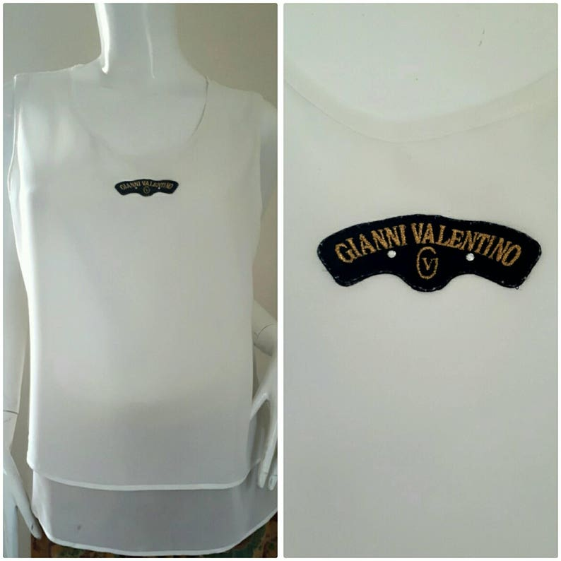 Vintage Gianni Valentino Chiffon blouse Size 9 Small Medium