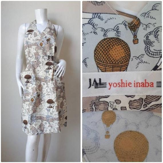 Vintage Yoshie Inaba Map print Apron