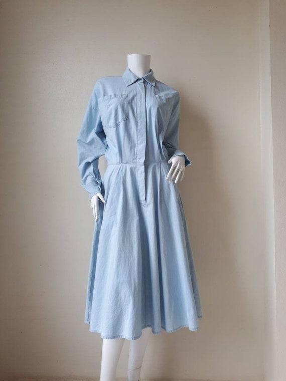 Vintage 1980s Norma Kamali Shirt Dress