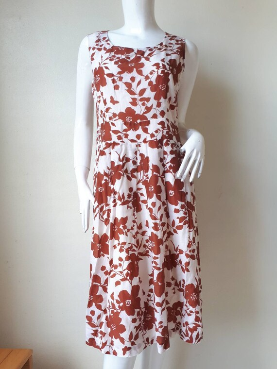 Vintage HANAE MORI Silk Print Dress Size 40