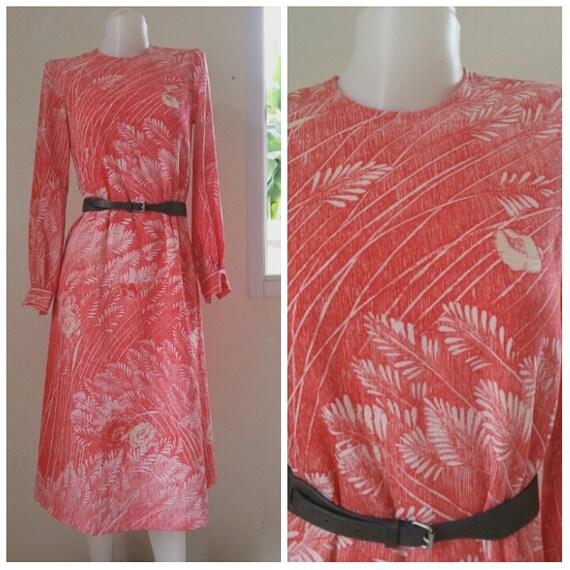 Vintage VIVID HANAE MORI floral Maxi Dress Size Me
