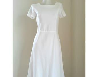 Sonia Rykiel White Cotton Dress Size 38 S - M
