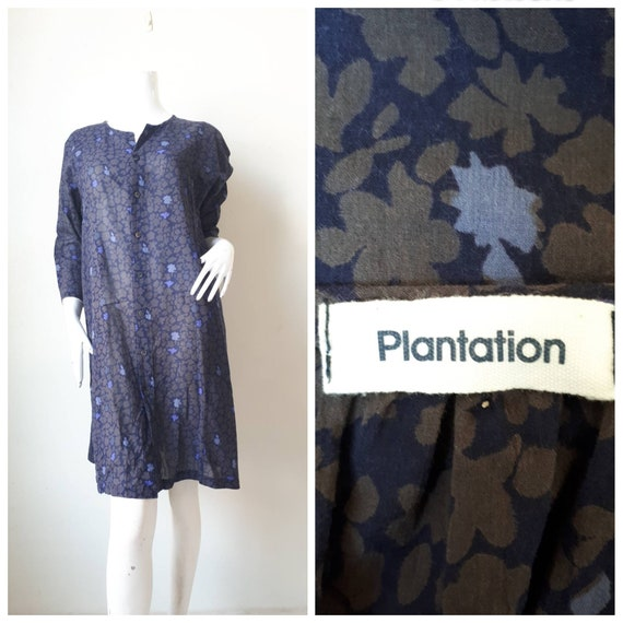 Issey Miyake Plantation Dress Cotton print floral