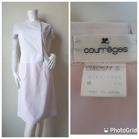 Rare Vintage 1980s Courreges Dress  Size S  Made in Japan  Very Nice Condition  DHL Free Shipping  designer  paris