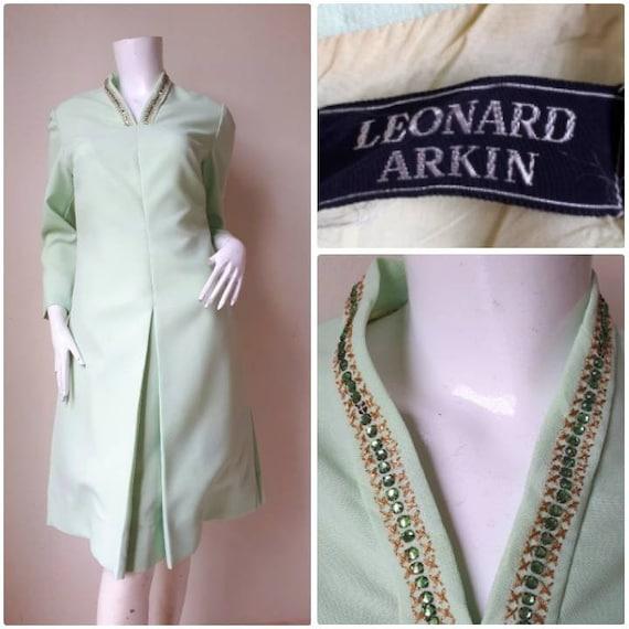 Vintage Leonard Arkin Dress /  Size Small
