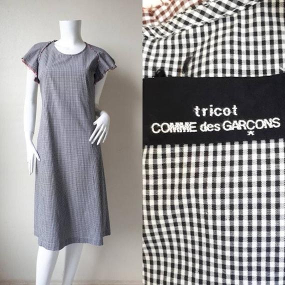 Vintage 1992s COMME des GARCONS tricot Ruffle dres