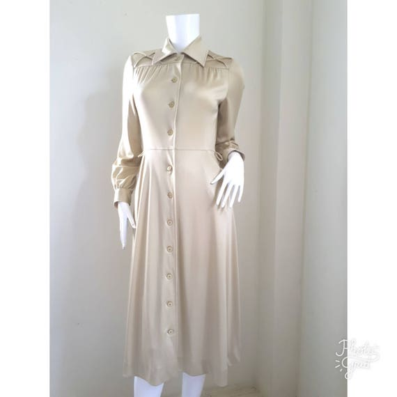 1980s Hanae Mori Ban - Lon Dress / Soft nylon jers