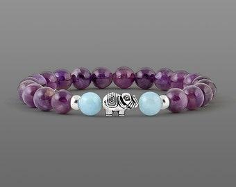 February Birthstone Jewellery Meditation bracelet Amethyst bracelet Mala Bracelet Yoga Bracelet Gemstone Bracelet Girlfriend gift|for|her