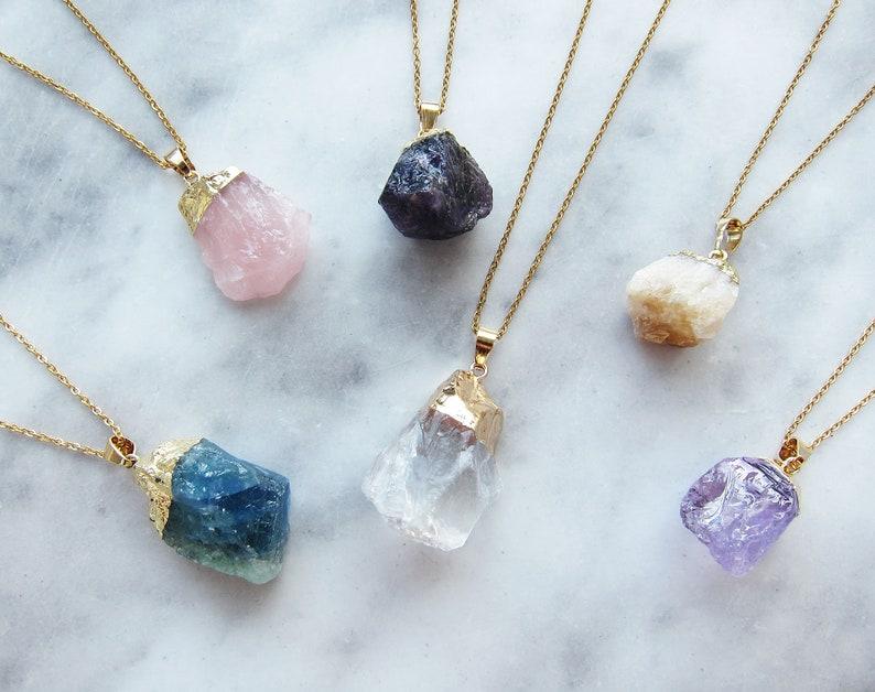 Amethyst necklace Birthstone necklace Boho necklace Rose image 0