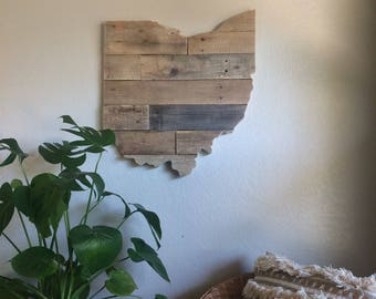 Ohio State Sign | Reclaimed Wood | Pallet Sign | Home Decor | Wall Art | Rustic Decor | Barn wood |