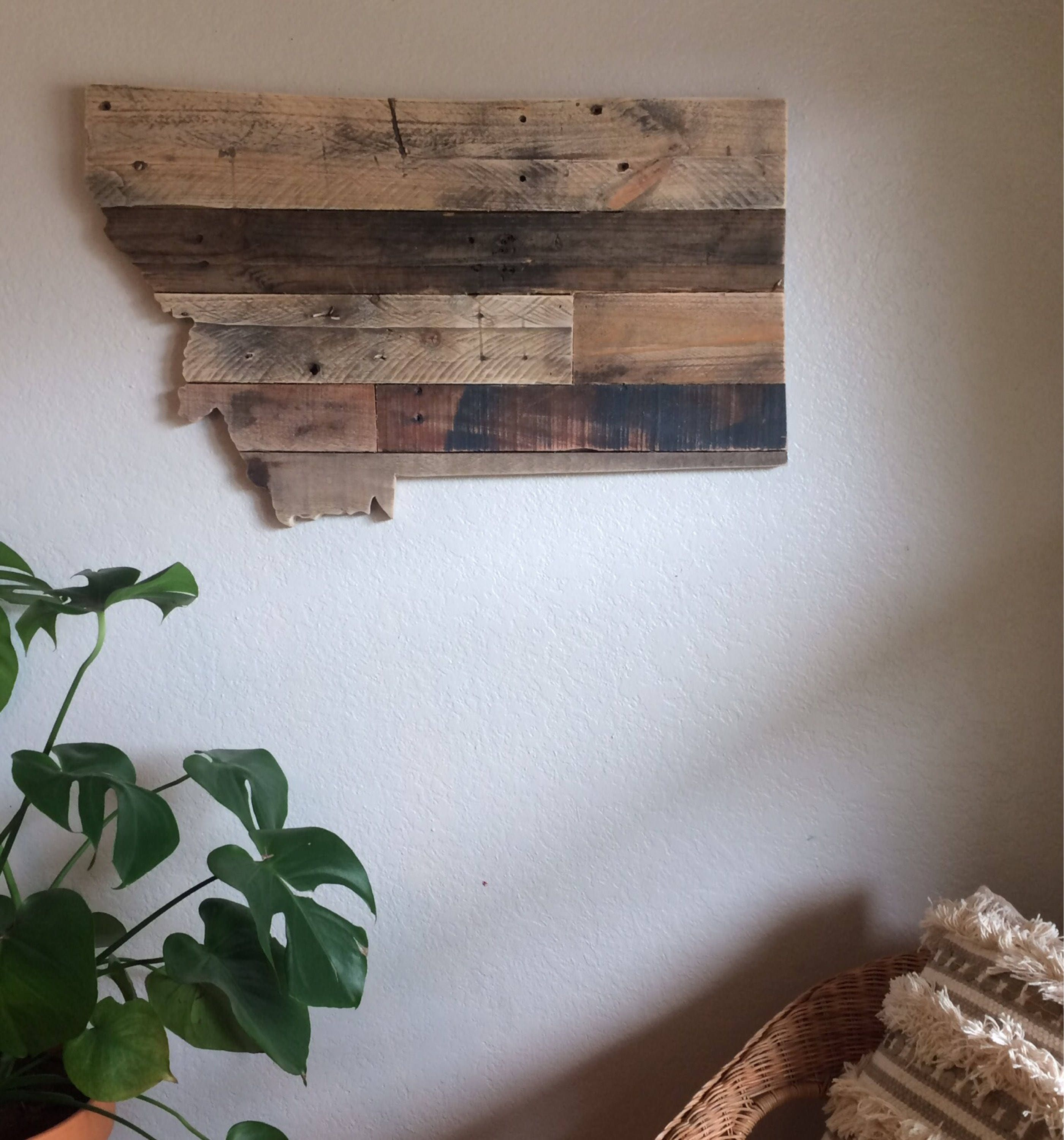 Montana State Sign Reclaimed Wood Pallet Sign Home Decor