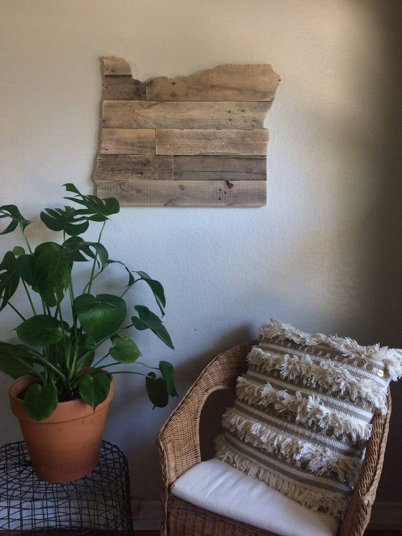handmade wooden home decor rustic home decor wall art reclaimed pallet shelves wooden home Oregon State Sign Reclaimed Wood Pallet Sign Home Decor | Etsy