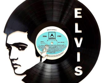 Elvis Presley - Vinyl Record Art/Clock