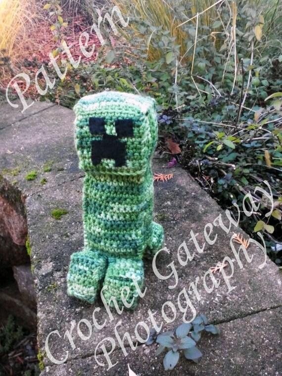Minecraft Creeper Inspired Crocheted Amigurumi Pattern Etsy