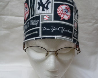 New York Yankees traditional tie back scrub cap for medical professionals 5d75e8f7974