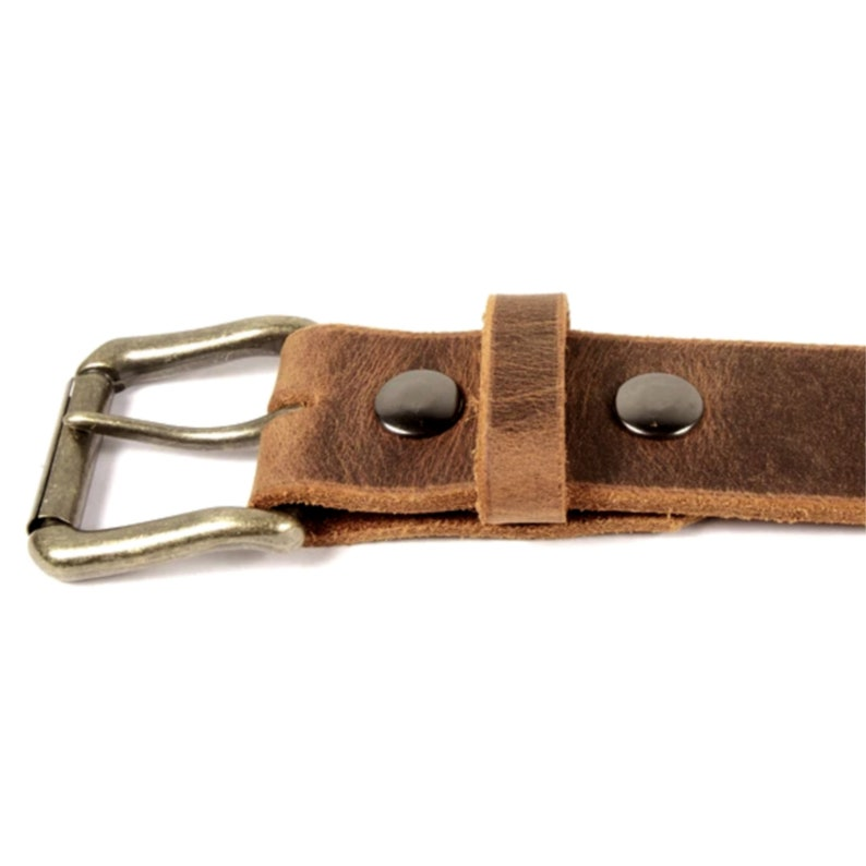 Gift For Him Sandstone Pull-Up Bown Leather Belt With Snaps Groomsman Gift -Casual Brown Real Leather Belt Distressed Brown Jeans Belt