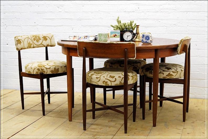 Vintage Teak G Plan Dining Table 4 Chairs Mid Century Danish Etsy
