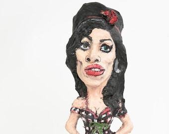 Amy Winehause paper mache figure