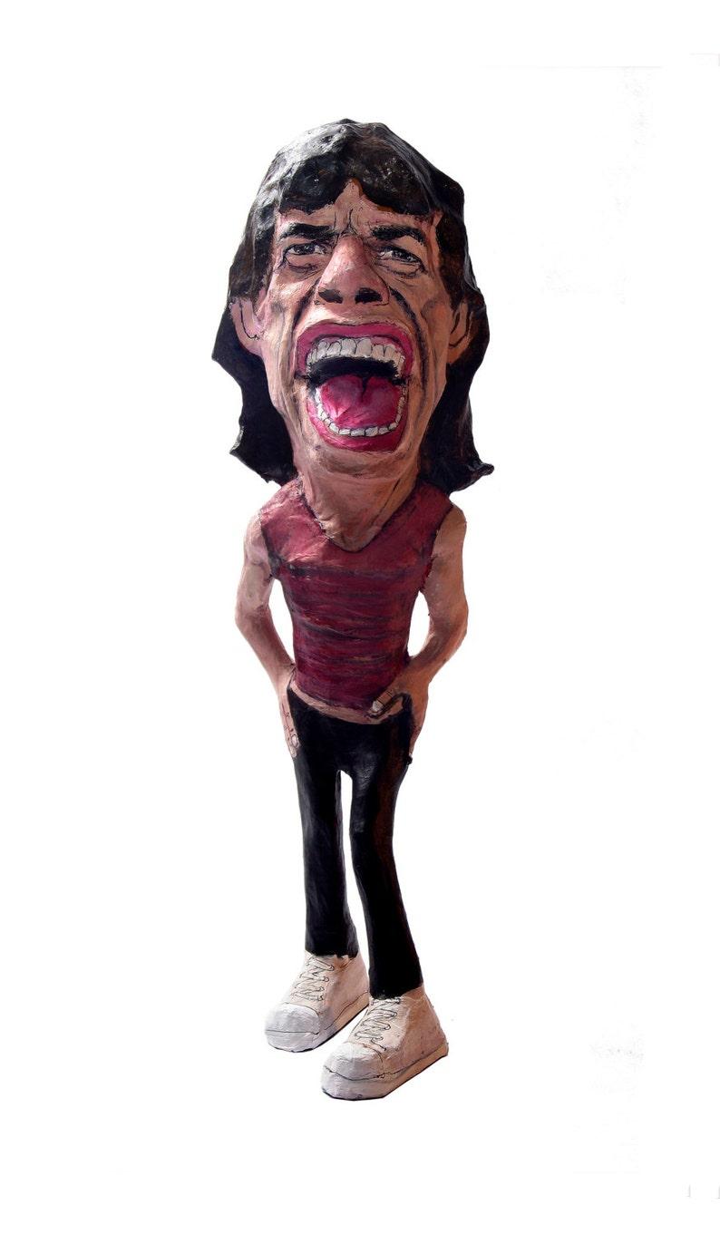 Mick Jagger paper mache figure image 0