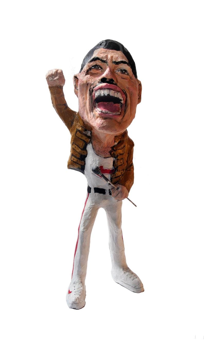 Freddie Mercury paper mache figure image 0