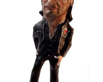 Bono U2 paper mache figure