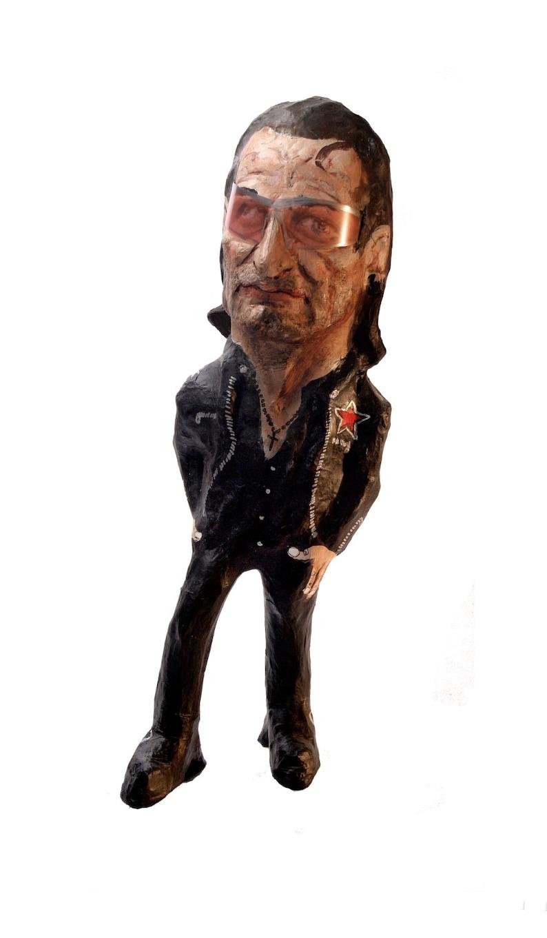 Bono U2 paper mache figure image 0