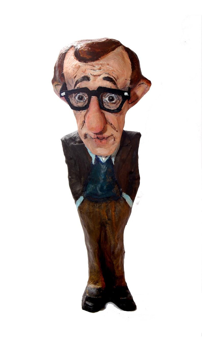 Woody Allen paper mache figure image 0