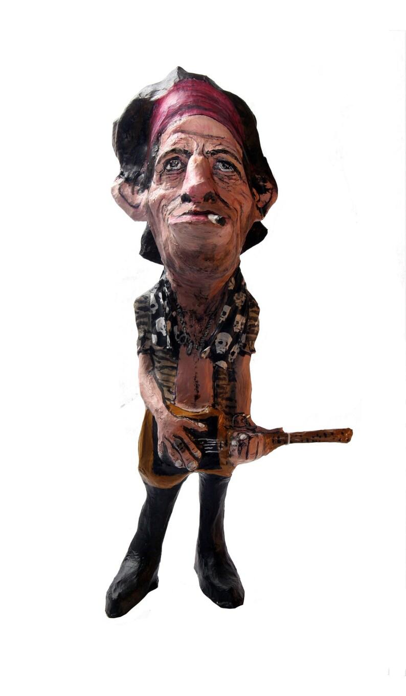 Keith Richards paper mache figure image 0