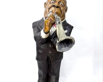 Louis Amstrong paper mache figure