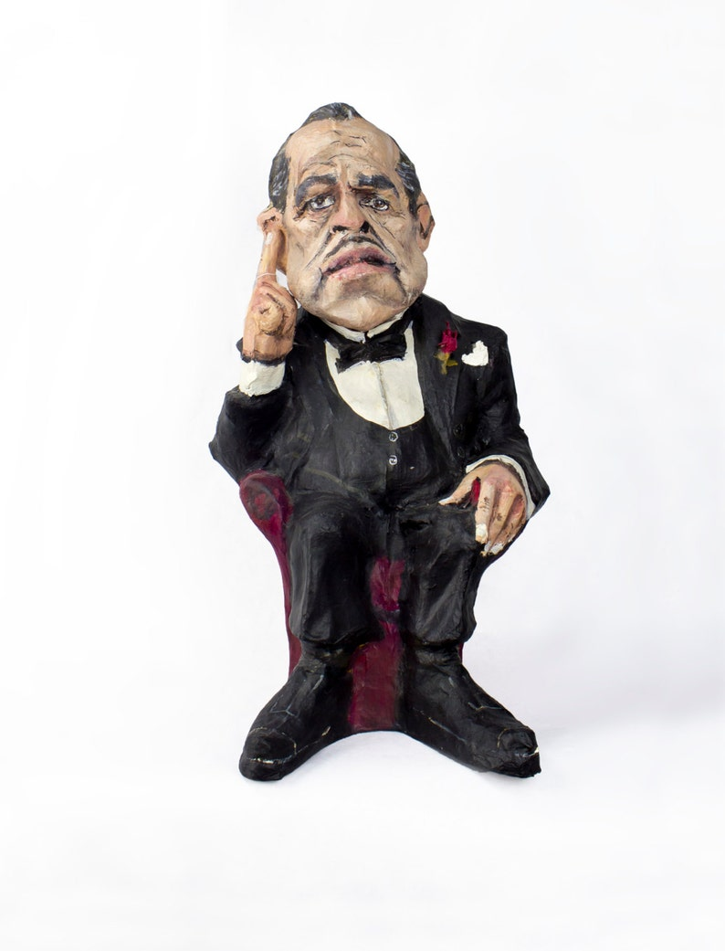 The Godfather paper mache figure image 0
