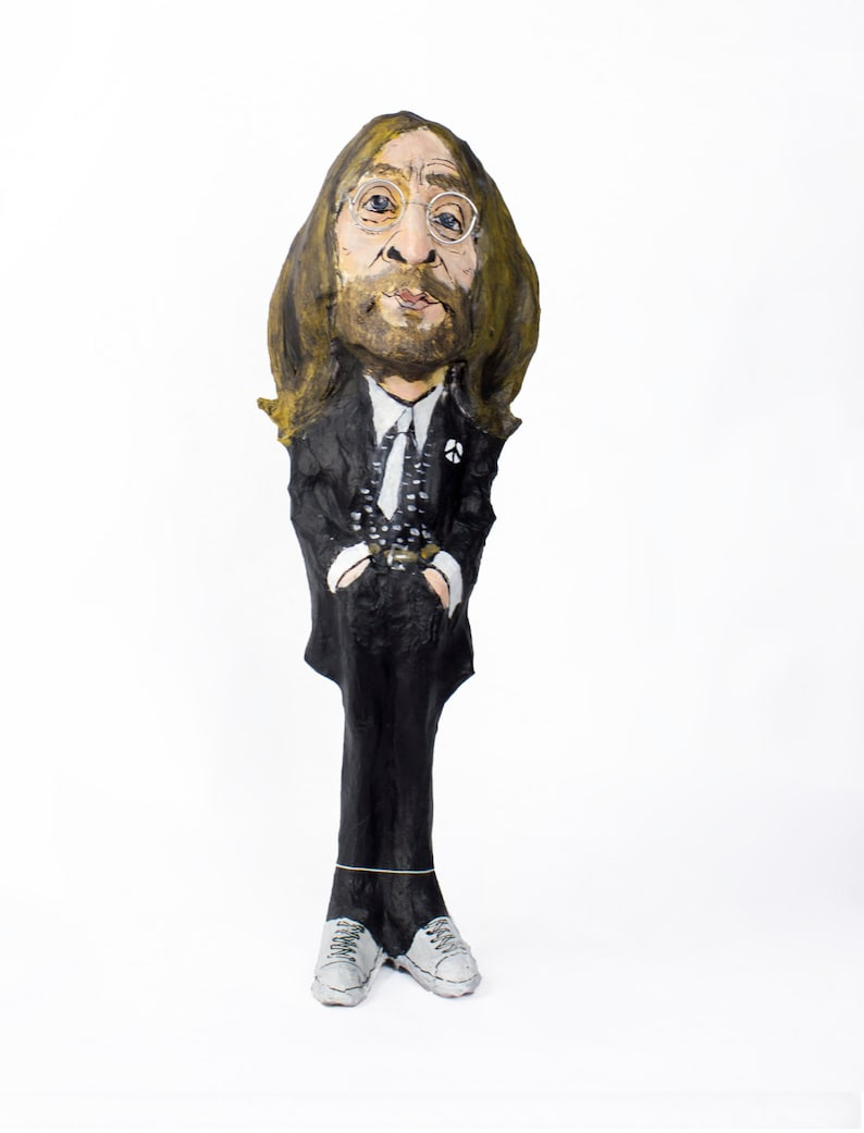 John Lennon paper mache figure image 0