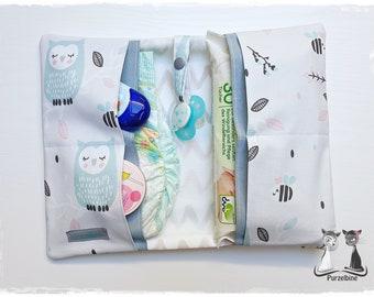 Diaper bag - Owls - Bees - Diaper folder