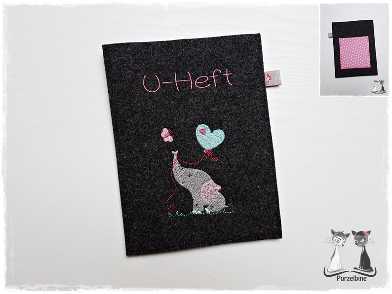 U-booklet sleeve  felt  U-issue case on request with image 0