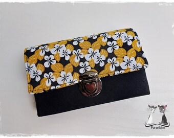 Purse - Purse - Little Ruby - Flowers black mustard yellow