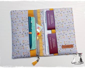 Travel case grey dots - Travel case - Passport cover - Ticket cover - Pocket organizer - Organizer - Travel organizer - Holiday planner