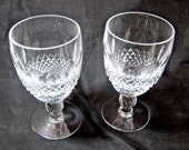 Pair of Waterford Crystal Claret Wine Glasses in Colleen Pattern 4.75 quot x 2.5 quot