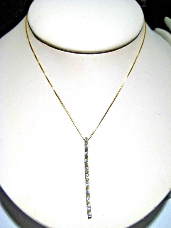 893a18bb80be0 Elegant Y Necklace in 14k Yellow Gold with Diamonds 16