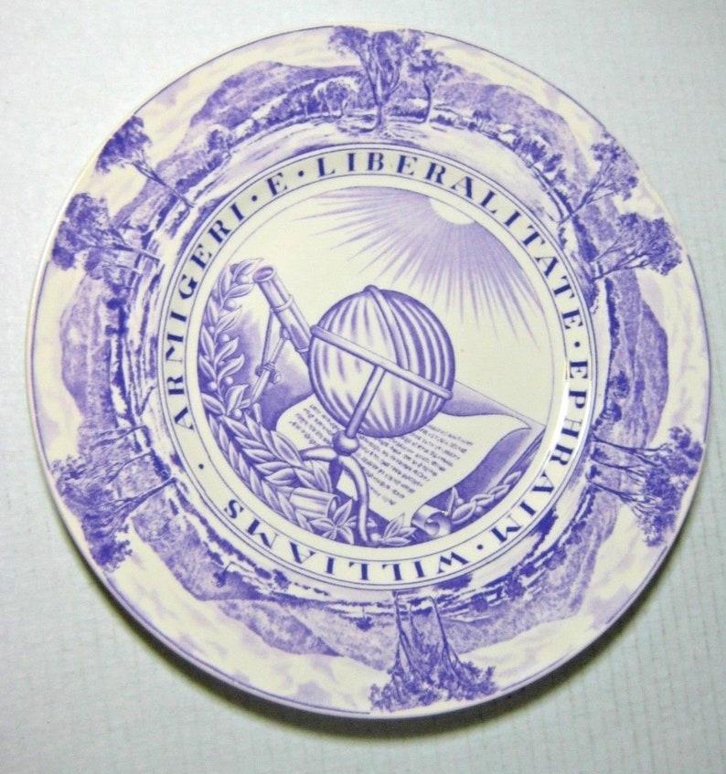 Vintage Purple Wedgwood Williams College Seal Dinner Plate